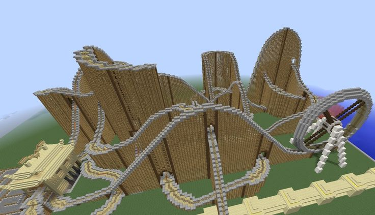 INCREDIBLE Minecraft roller coaster. If it took this long to ride, imagine how long it must have taken to build...