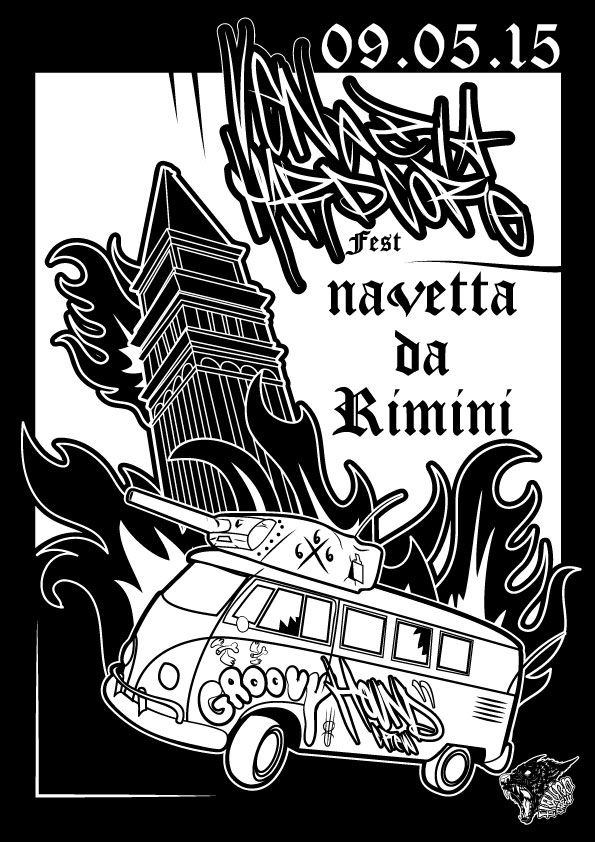 Venezia Hardcore Navetta  666 illustrazione di Edoardo Perazzini