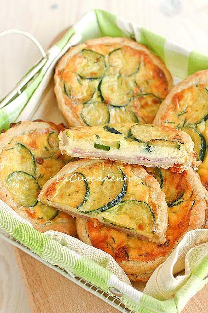 Mini quiche alle zucchine, Emmenthal e prosciutto cotto _ La Cuoca Dentro