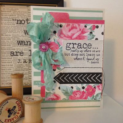 Handmade card by Autumn Clark using the Grace plain jane from Verve. #vervestamps #faithstamping