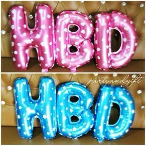 BALON FOIL HURUF ANGKA PINK|balon foil huruf angka pink dan biru|Balon foil Biru/Pink