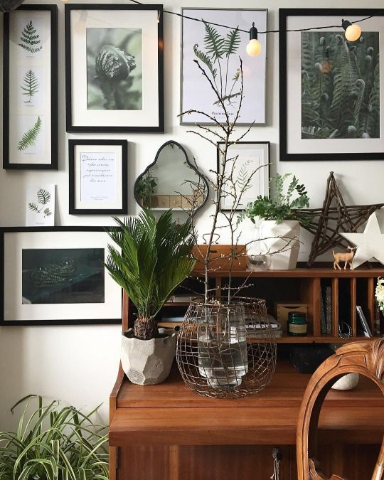 Lovely mismatched gallery wall: botanical and art photos. Are you looking for unique and beautiful art photo prints (not the ones featured in this pin) to curate your gallery walls? Visit bx3foto.etsy.com and follow us on Instagram @bx3foto