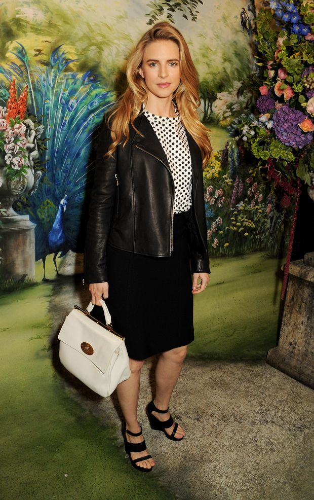 Britt Marling at the Mulberry SS14 show. SS14 Show Guests - Journal | Mulberry