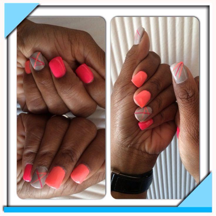 Bright nails..