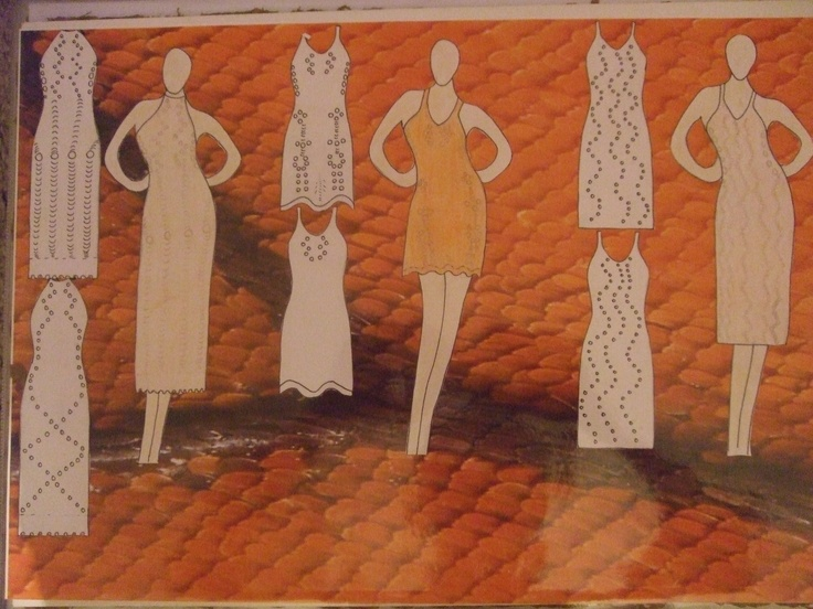 lace dresses illustration