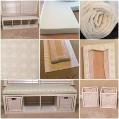 IKEA hack – shelving unit turned into a window ben…