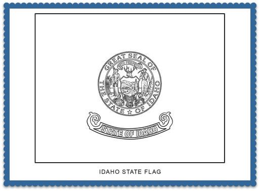150 best usa state flags images on pinterest states for Idaho state flag coloring page