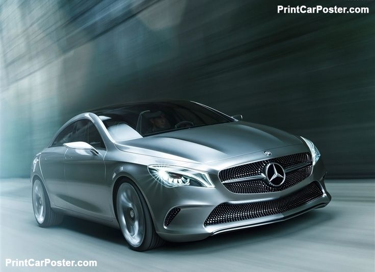 Mercedes-Benz Style Coupe Concept 2012 poster – 汽车广告