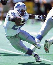 Barry Sanders - No brainer. We used to make my little brother put on hockey gear and run around like Barry until we could tackle him. Definitely a lot of tears