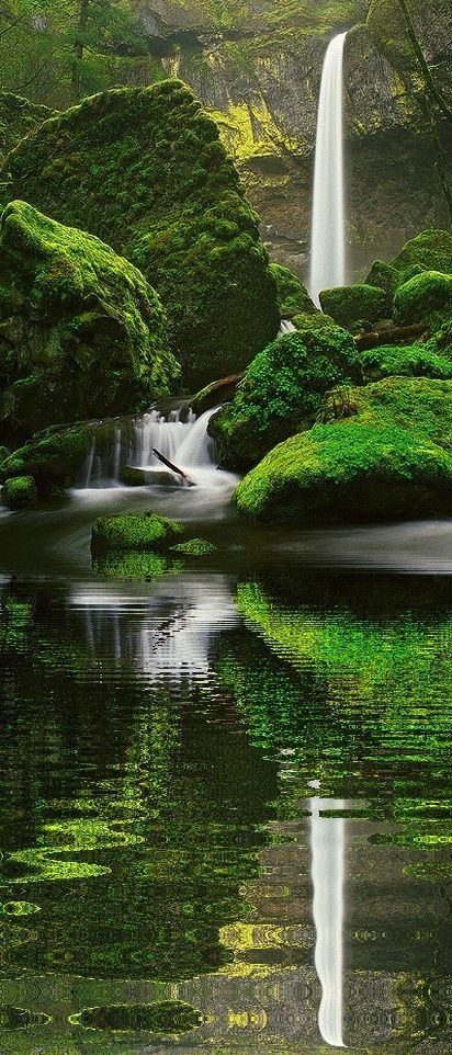 25 Places You'd Like To Visit Right Now – Elowah Falls, Oregon - Click for More...