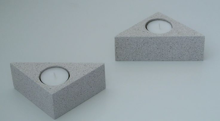 Aerated concrete tea light holder
