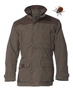 Rovince Ergoline Jacket made from the Patented ZECK-Protek treatment which is effective against Ticks, Midges, Mosquitos and many other biting insects.