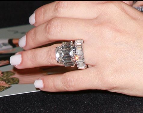 Kim Kardashian's 20.5 carat diamond engagement ring and wedding band (bling overdose). Not a fan of the set - but the girl really loves her diamonds.