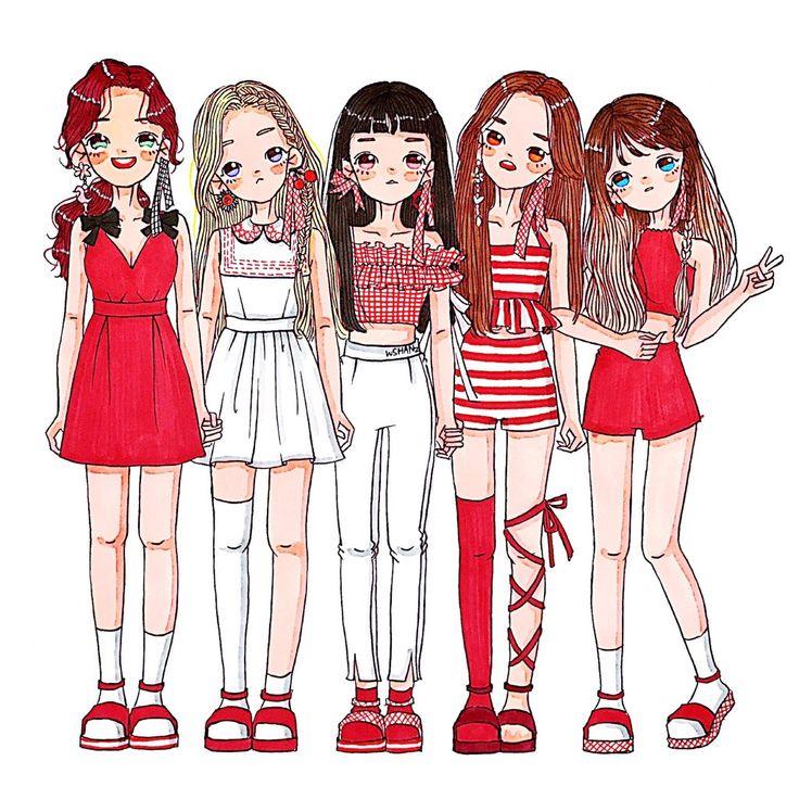 Pin oleh Bbika di Girls Illustration Animasi, Kertas