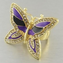 Purp Butterfly ring