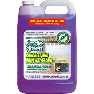 Simple Green® Concrete and Driveway Cleaner - Pressure Washer Concentrate - The safer choice for cleaning any concrete surface! #SimpleGreen