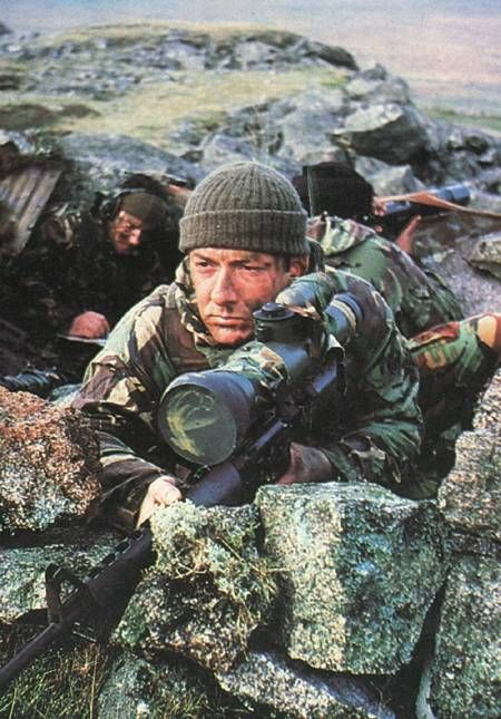 SAS team (or RM?) during Falklands war.