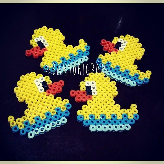 Ducklings perler beads by bakyorigram