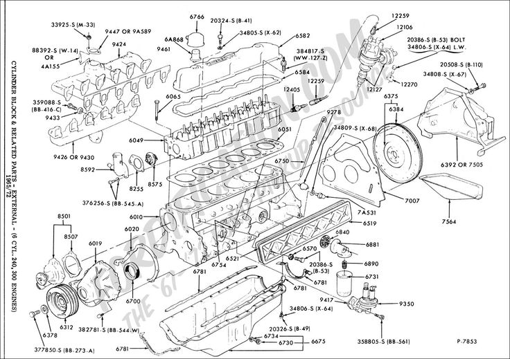 Ford Straight 6 Engine Diagram Ford truck