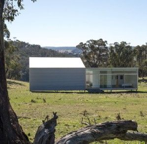 Two pavilions in a paddock