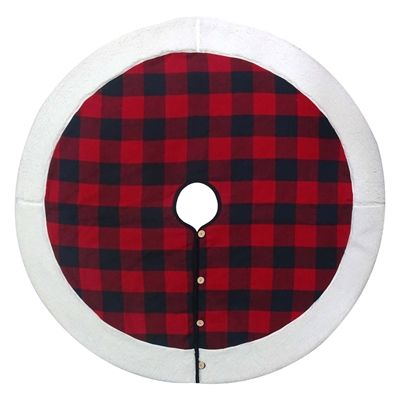 Holiday Living BUFFALO CHECK TREE SKIRT RED