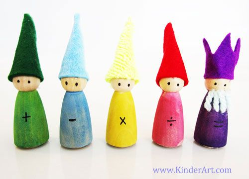 Waldorf Math Gnomes: Sculpture Activities and Lessons for Children and Kids: KinderArt ®