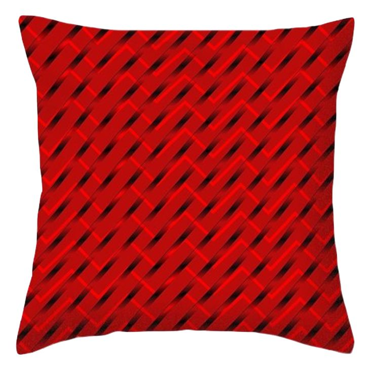 I want to introduce some bold colour into our home decor.  What better colours to start with than red and black! Bold, endurable, immensely popular! Can you see this design on cushions  at your place?