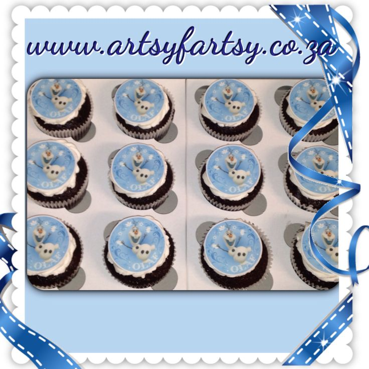Olaf Edible Picture Cupcakes