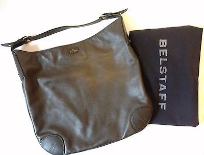 Vintage Belstaff Tote Bag (Lg.) Brown Leather - Made in Italy - GREAT CONDITION!