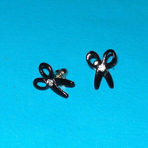 Hey, I found this really awesome Etsy listing at https://www.etsy.com/ca/listing/122303033/black-and-rhinestone-scissor-post
