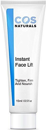 COS Naturals INSTANT FACE LIFT Tighten Firm And Nourish Natural & Organic Ingredients Anti Wrinkle Cream Remove Signs of Aging Fine Lines Eye Puffiness Dark Circles Bags, 15ml 0.5 Oz  GET IMMEDIATE RESULTS: As soon as Instant Face Lift is applied, you can feel it working, tightening pores, firming your complexion, and reducing visible signs of aging, such as wrinkles and fine lines.  REVERSE THE SIGNS OF AGING: COSNATURALS Instant Face Lift tightens, and rejuvenates your skin, as well ...