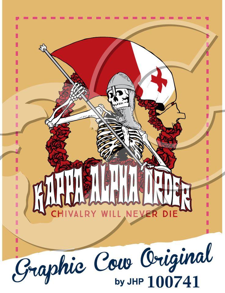 Kappa Alpha Order skeleton knight flag rose fraternity PR #grafcow