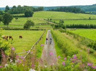Cycling the Vennbahn, an easy ride on one of Europe's longest rail trails. Through Luxembourg, Belgium and Germany. Just 125 km