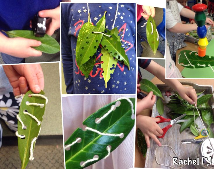 """Threading real leaves - from Rachel ("""",)"""