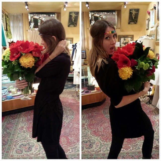 Oh noo @lyndal_m has run away with our flowers! Thanks #Emblem #Florist #toronto for delivering such beautiful bouquets!! #Padgram