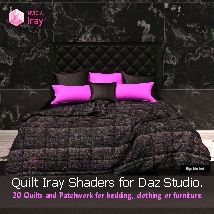 Quilts and Patchwork - 20 Iray Shaders for Daz Studio.