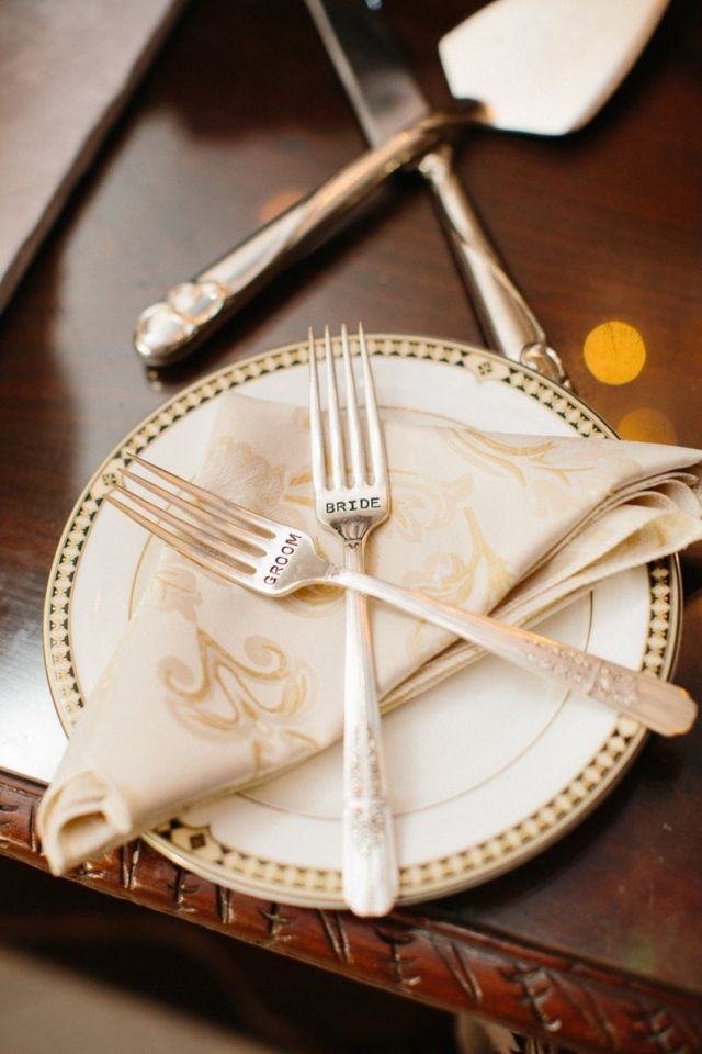 Utterly Charming Wedding Silverware Sets