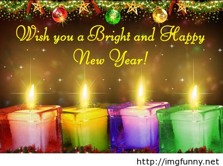 Bright happy new year saying