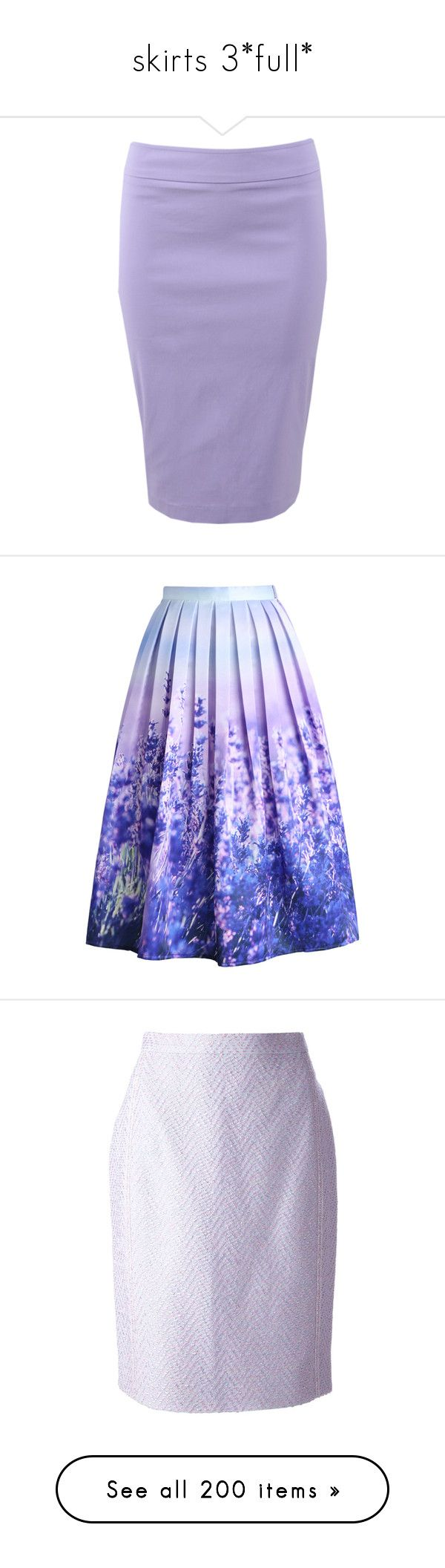 """skirts 3*full*"" by crossjaden on Polyvore featuring skirts, stretchy skirts, wide skirt, stretch skirts, pull on pencil skirt, knee high skirts, bottoms, saias, gonne and purple"