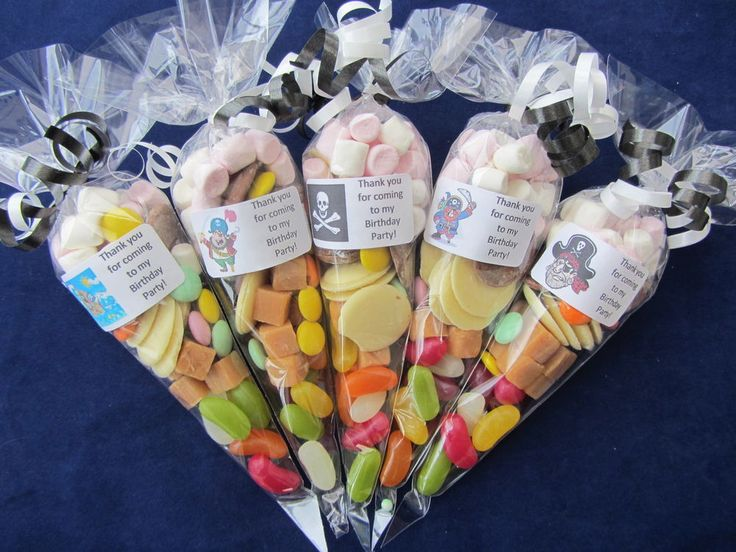 Personalised pre filled Pirate/s large sweet/s cones party bag fillers/stocking