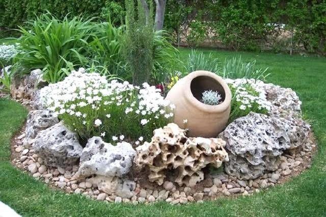 Idee Aiuole Giardino Con Sassi Con Sassi Da Giardino In Pietra Di