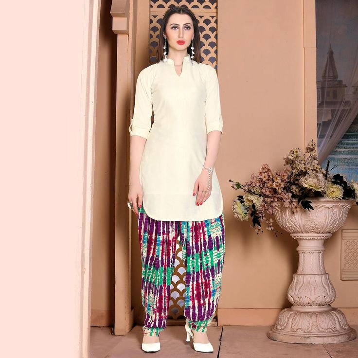 Buy Classy Cream Georgette Patiala Suit at Rs. 1949- Get latest Patiala Suit for womens at Ethnic Factory. ✓Genuine Products ✓ Easy Returns ✓ Best Pricing #Ethnicfactory #Fairprice #patialasuit #Fashion