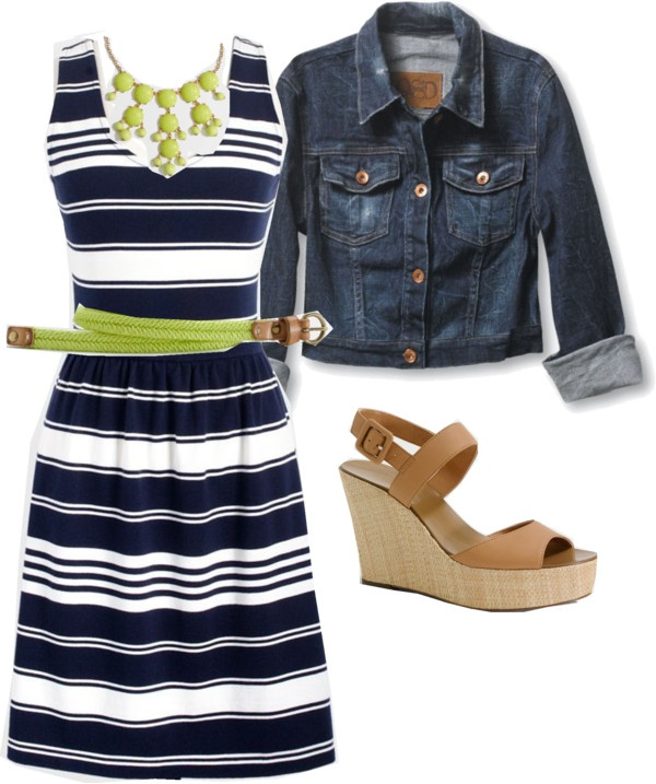 """Navy and lime"" by lovesjcrew ❤ liked on Polyvore"