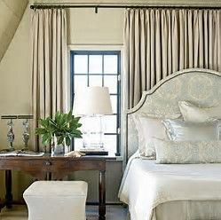 Perfect Image Result For The Beds With Curtains Behind Headboard