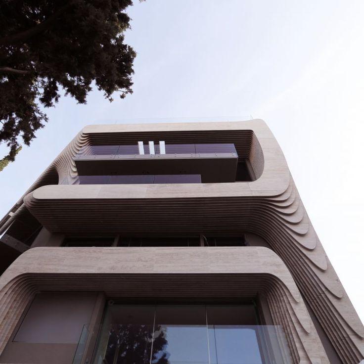 One Kleomenous - Architecture by Omniview #algorithmicdesign #parametricdesign #digitalfabrication #furniture #interiordesign #tsigos #Greece #Athens #kolonaki #façade #marble #CNC #dimitritsigos
