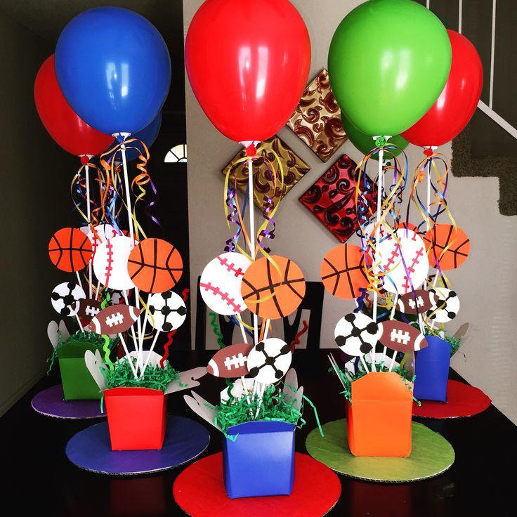 Sports theme centerpieces diy st birthday