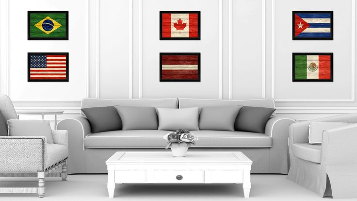 Latvia Country Flag Texture Canvas Print with Black Picture Frame Home Decor Wall Art Decoration Collection Gift Ideas