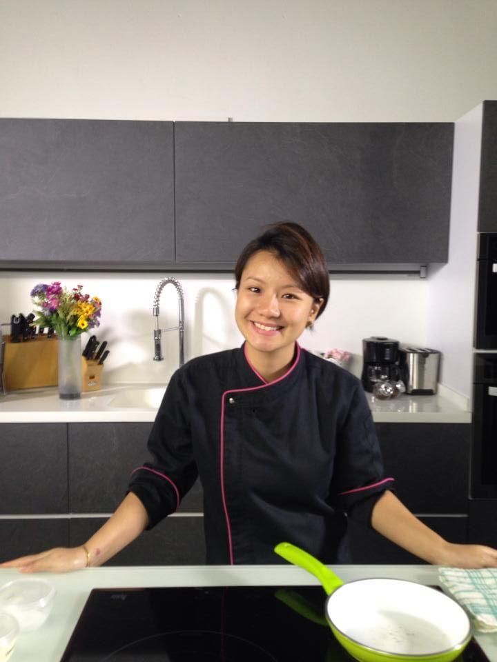 Chef Nicole Loh in our kitchen.