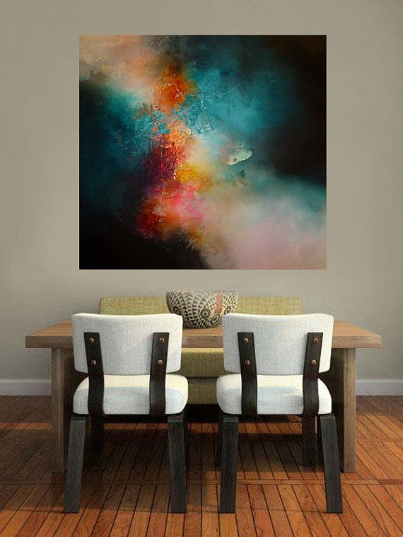 Large Abstract Painting by Simon Kenny por SimonkennysPaintings