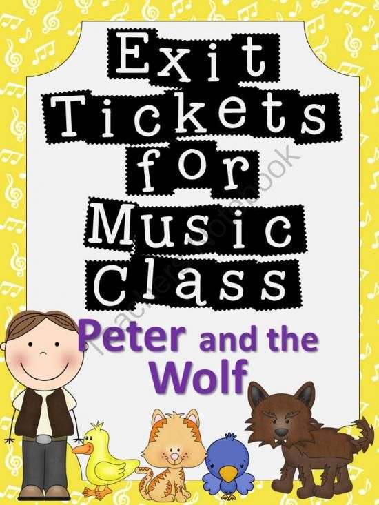 Exit Tickets Formative Assessments for Music Class-Peter and the Wolf from The Bulletin Board Lady on TeachersNotebook.com -  (8 pages)  - This download features 7 exit tickets that you can use with your Peter and the Wolf unit.  This is a great way to do formative assessments in music class!